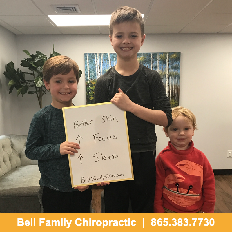 Pediatric chiropractor testimonial in Knoxville of better skin, better sleep, and better focus.